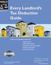 Cover of: Every Landlord's Tax Deduction Guide (2nd Edition) | Stephen Fishman