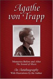 Cover of: Agathe von Trapp