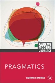 Cover of: Pragmatics