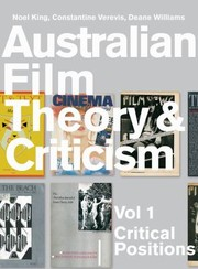 Cover of: Australian Film Theory And Criticism