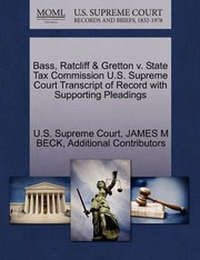 Cover of: Bass Ratcliff Gretton