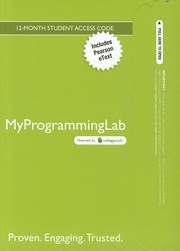 Cover of: Myprogramminglab with Pearson Etext  Access Card  For Introduction to Programming Using Python