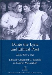 Cover of: Dante The Lyric And Ethical Poet