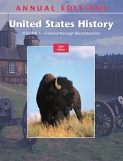 Cover of: Annual Editions United States History