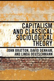 Cover of: Capitalism And Classical Sociological Theory