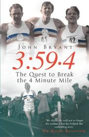 Cover of: 3:59.4 | John Bryant