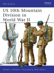 Cover of: Us 10th Mountain Division In World War Ii