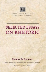 Cover of: Selected Essays On Rhetoric