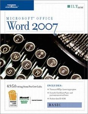 Cover of: Word 2007 Basic Student Manual