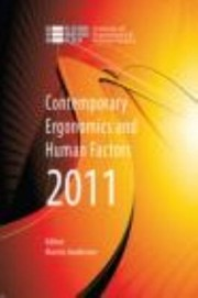 Cover of: Contemporary Ergonomics And Human Factors 2011