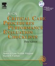 Cover of: Critical Care Procedures Performance Evaluation Checklists CD-ROM | AACN