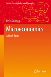 Cover of: Microeconomics A Fresh Start