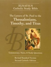 Cover of: The Ignatius Study Bible The Letters Of Saint Paul To The Thessalonians Timothy And Titus