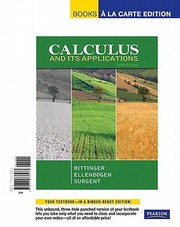 Cover of: Calculus And Its Applications Books A La Carte Edition