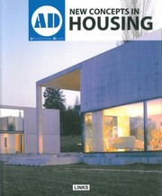 Cover of: New Concepts In Housing