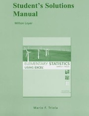 Cover of: Students Solutions Manual for Elementary Statistics Using Excel