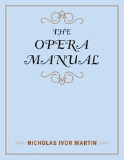 Cover of: The Opera Manual