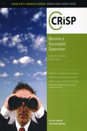 Cover of: Becoming A Successful Supervisor Develop Essential People Skills