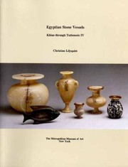 Cover of: Egyptian Stone Vessels