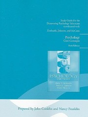 Cover of: Study Guide For The Discovering Psychology Telecourse Coordinated With Zimbardo Johnson And Mccann Psychology Core Concepts