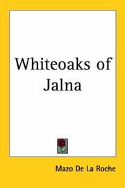 Cover of: Whiteoaks of Jalna