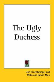 Cover of: The ugly duchess: a historical romance