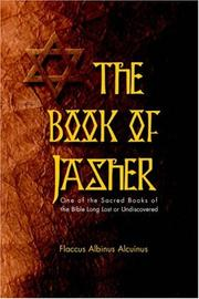 Cover of: Book Of Jasher One Of The Sacred Books Of The Bible Long Lost Or Undiscovered