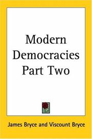 Cover of: Modern Democracies | James Bryce