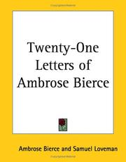Cover of: Twenty-One Letters of Ambrose Bierce