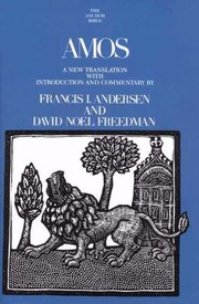 Cover of: Amos A New Translation With Introduction And Commentary