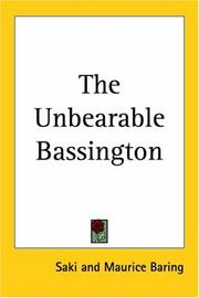 Cover of: The Unbearable Bassington | Saki