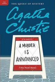 Cover of: A Murder Is Announced A Miss Marple Mystery