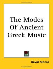 Cover of: The Modes of Ancient Greek Music