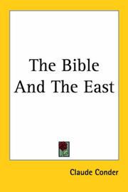 Cover of: The Bible And The East