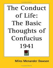 Cover of: The Conduct of Life