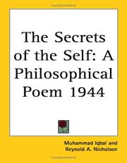 Cover of: The Secrets of the Self: A Philosophical Poem 1944
