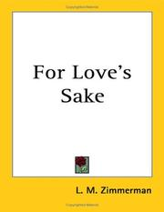 Cover of: For Love's Sake