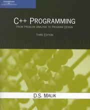 Cover of: C++ Programming
