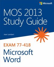 Cover of: Mos 2013 Study Guide For Microsoft Word