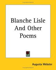 Cover of: Blanche Lisle And Other Poems