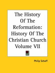 Cover of: The History Of The Reformation: History Of The Christian Church