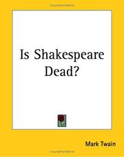 Cover of: Is Shakespeare Dead?: from my autobiography