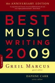 Cover of: Best Music Writing 2009