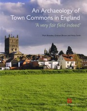Cover of: An Archaeology Of Town Commons In England A Very Fair Field Indeed