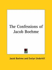 Cover of: The Confessions of Jacob Boehme