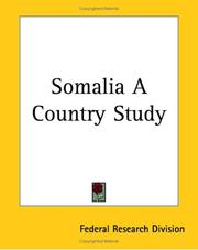 Cover of: Somalia a Country Study | Federal Research Division