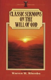 Cover Of Classic Sermons On The Will God