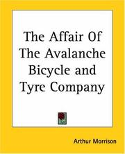 Cover of: The Affair Of The Avalanche Bicycle And Tyre Company