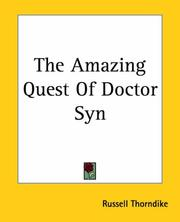 Cover of: The Amazing Quest Of Doctor Syn | Russell Thorndike
