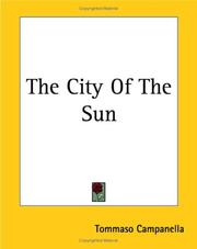 Cover of: The City of the Sun by Tommaso Campanella
